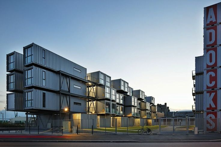 Shipping Container Homes: Cattani Architects, Cité A Docks - Le Havre, France…