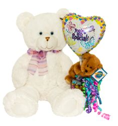 Big Girl - White Teddy Bear