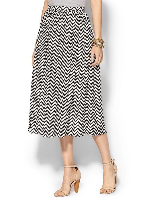 Chevron Midi Skirt