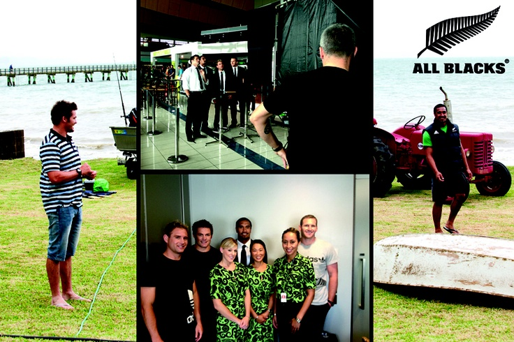 The All Blacks behind the scenes at our Airpointers TV shoot