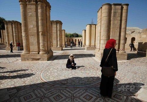 パレスチナで8世紀のモザイク床公開、中東最大級
