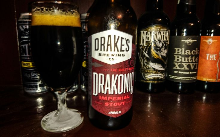 Drakonic Imperial Stout, 9%. Drake's Brewing Co, San Leandro, California USA. A pleasant stout that I believe would be better on tap