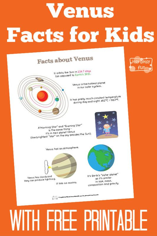 Fun Venus Facts for Kids With Free Printables