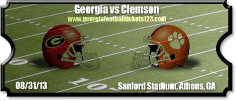 georgia bulldogs vs clemson tigers | vs Georgia Football Tickets | 08/31/13 | Memorial Stadium | Tigers vs ...