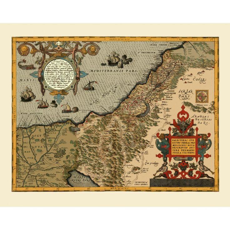 Vintage map of Palestine for wall decoration.  Handmade paper print. #map, #antiquemap, #vintagemap, #oldmap #historicalmap, #mapreproduction #mapreproductions #oldmaps, #vintagemaps, #antiquemaps, #historicalmaps #handmadepaper #maps, #middleeast, #mapdecor, #traveldecor #walldecor, #mapgifts