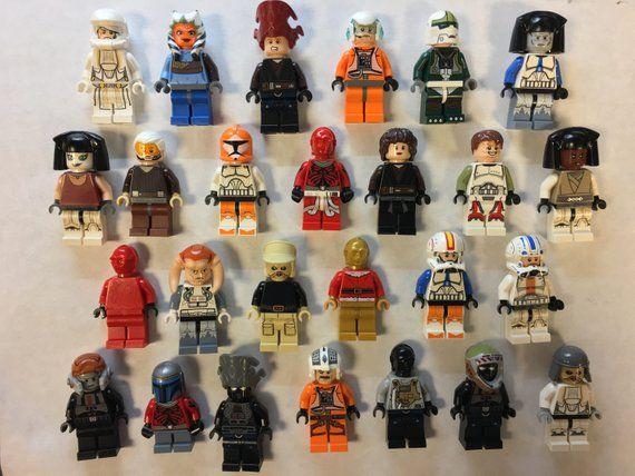 Used Lego minifigures lot Random Grab Bag of 10 Figures and 10 Minifgure Items