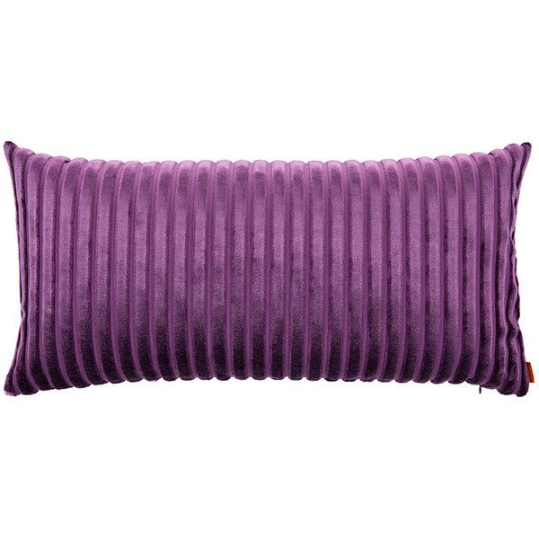 Missoni Home Coomba Cushion - T49 - 30x60cm (45 KWD) ❤ liked on Polyvore featuring home, home decor, throw pillows, purple, striped throw pillows, purple home accessories, missoni home, purple accent pillows and purple home decor