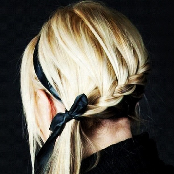 of course, its the hair.: French Braids, Hairstyles, Ribbons, Long Hair, Beautiful, Longhair, Bows, Hair Style, Side Braids