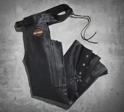 Men's Harley-Davidson Stock Leather Chaps...My husband in these was like a girls dream of a bad boy come true....HOT!!!