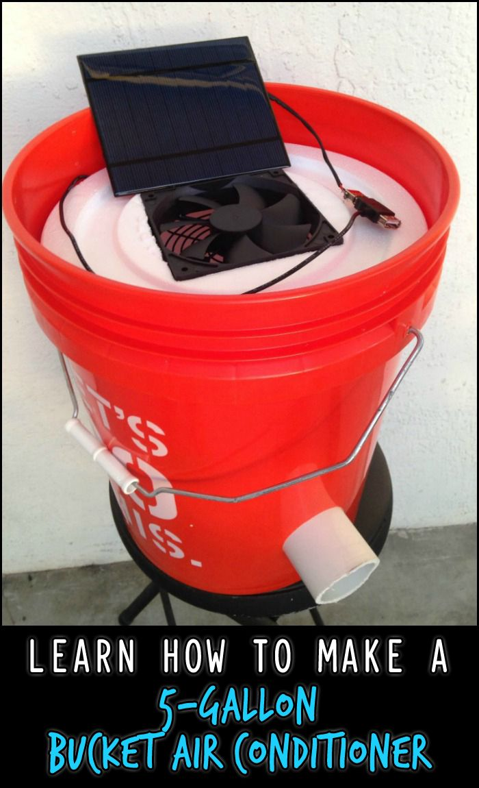 Prepare early for the coming summer season by building this 5-gallon bucket air conditioner!
