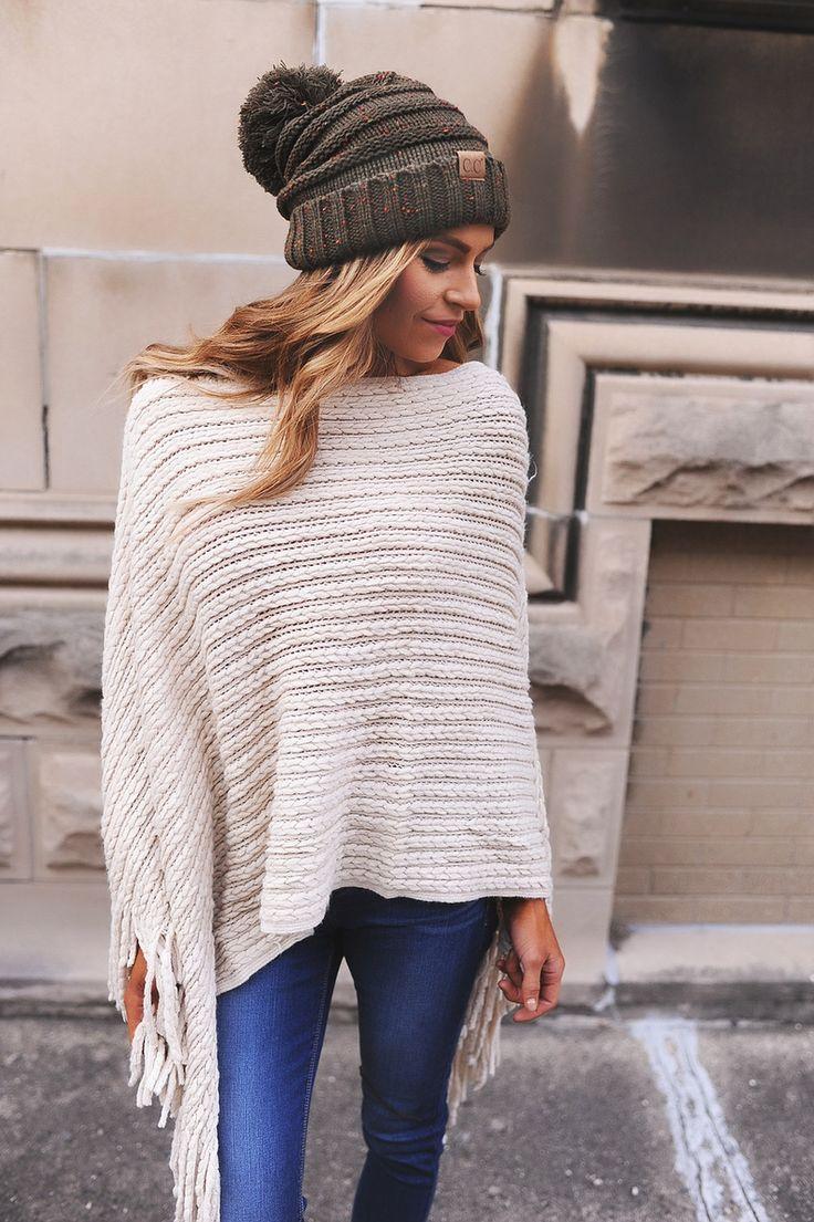 Beige Braided Poncho - Dottie Couture Boutique