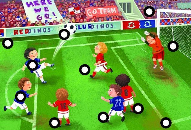 Interactieve praatplaat Voetbal ( klik op de afbeelding, die dan vergroot, daarna op de rondjes klikken en je krijgt allerlei leuke info)