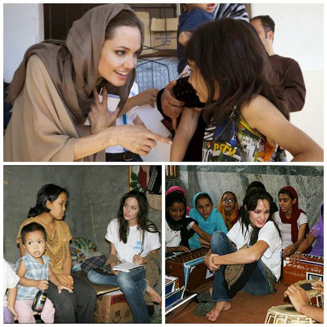 Angelina Jolie as United Nation's Goodwill Ambassador http://www.independent.co.uk/news/uk/politics/a-whorsquos-who-of-celebrity-political-endorsements-1962049.html