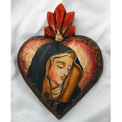 Lady of Sorrows / Virgen de los Dolores / Sancta Mater Dolorosa original from Old Mexico on #friday before #goodfriday made of #wood #viernesdedolores #catholic #woodvirgin #tradicioncatolica #virgenmejicana #dolores #virgendedolores #artsgain