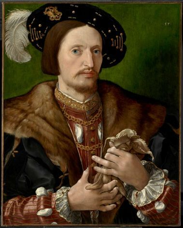 Attributed to Jan Gossaert (Flemish, c. 1472?1532), Portrait of a Gentleman, c. 1530. Oil on panel transferred to canvas, 25 x 20 1/8 in. (63.5 x 51.1 cm)