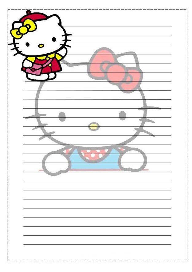 """E que você pensava """"que moderno enviar uma carta com a estampa da Hello Kitty.""""   35 papéis de carta que farão meninas dos anos 80 e 90 voltarem à infância"""