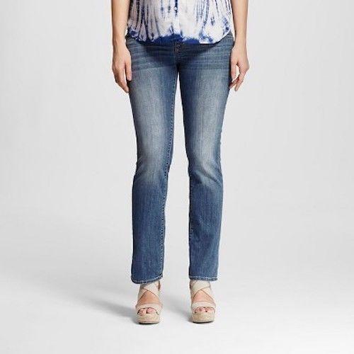 669115a053ef0 Liz Lange Maternity Under Belly Medium Wash Bootcut Jeans Umstandsmode