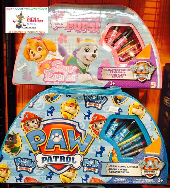 Mallette d'arts plastique avec crayons et + de la Pat Patrouille #patpatrouille dans la Boutique de St-Sauveur #stsauveur 12.99$ 450-240-0007 info@laboiteasurprises.ca