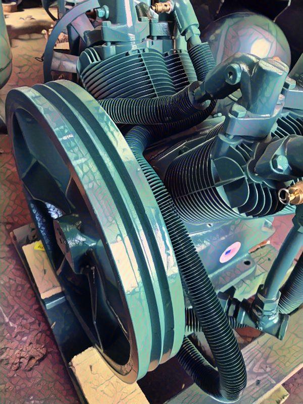New air compressor pump. Air compressor service in the
