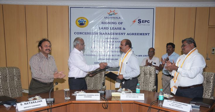 VO Chidambaranar Port signs Land Lease Agreement and Concession - management agreement
