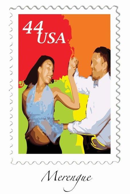 Partner Dances U.S. Mail Stamps by Ryan Hayward, via Behance