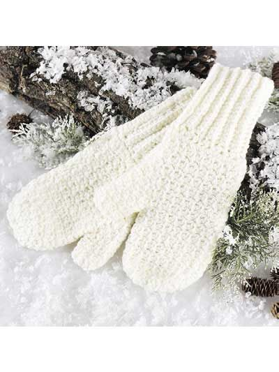 Crochet Accessories - Crochet Mittens & Gloves Patterns - Soft 'n Warm Mittens