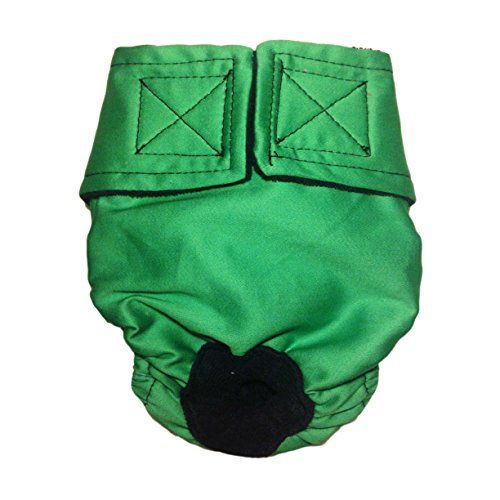 Cat Diapers - Made in USA - Solid Green Washable Cat Diaper, XS for Piddling, Spraying or Incontinent Cats *** Visit the image link for more details. #LitterHousebreaking