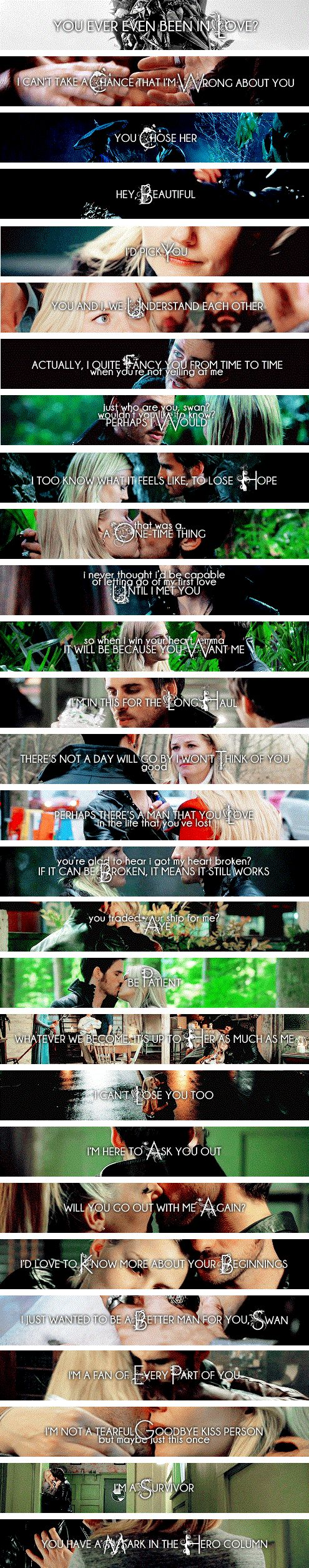 Colin O'Donoghue / Killian Jones / Capitan Hook Jennifer Morrison / Emma Swan/ Once Upon A Time - C'era Una volta If you take place like thanks Miriam