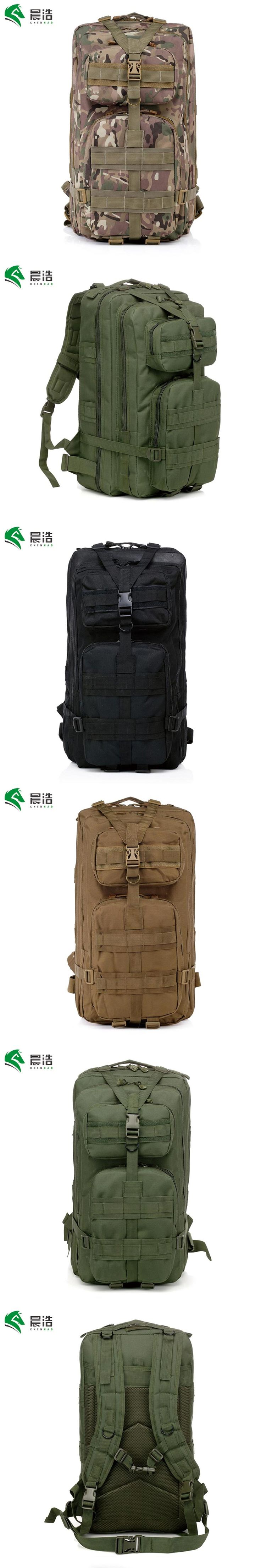 CHENHAO Large Military Tactical Backpack Waterproof Green Mountaineer Hiking Camping Hunting Backpack Outdoor Rucksack Crafted