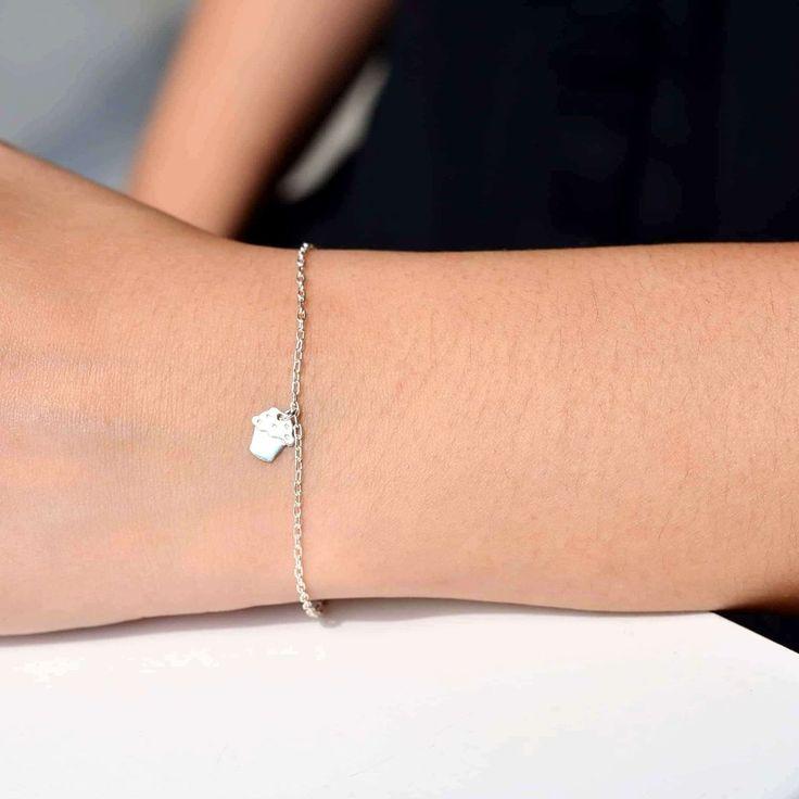 Cupcake Silver 925 Bracelet