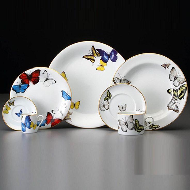 Aparelho De Jantar Borboletas Schmidt Porcelana 42 Peças - Até 8 Pessoas no CasasBahia.com.br
