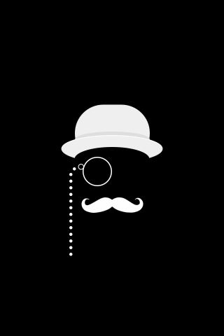 Like A Sir Black iPhone 5 Wallpaper