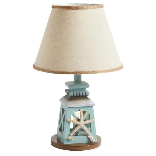 "One of my favorite discoveries at ChristmasTreeShops.com: 17.75"" Seashell Lantern Accent Lamp"