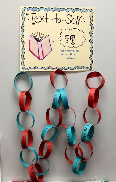 Making text-to-self connections... very cute idea that I MUST try with my 2nd graders