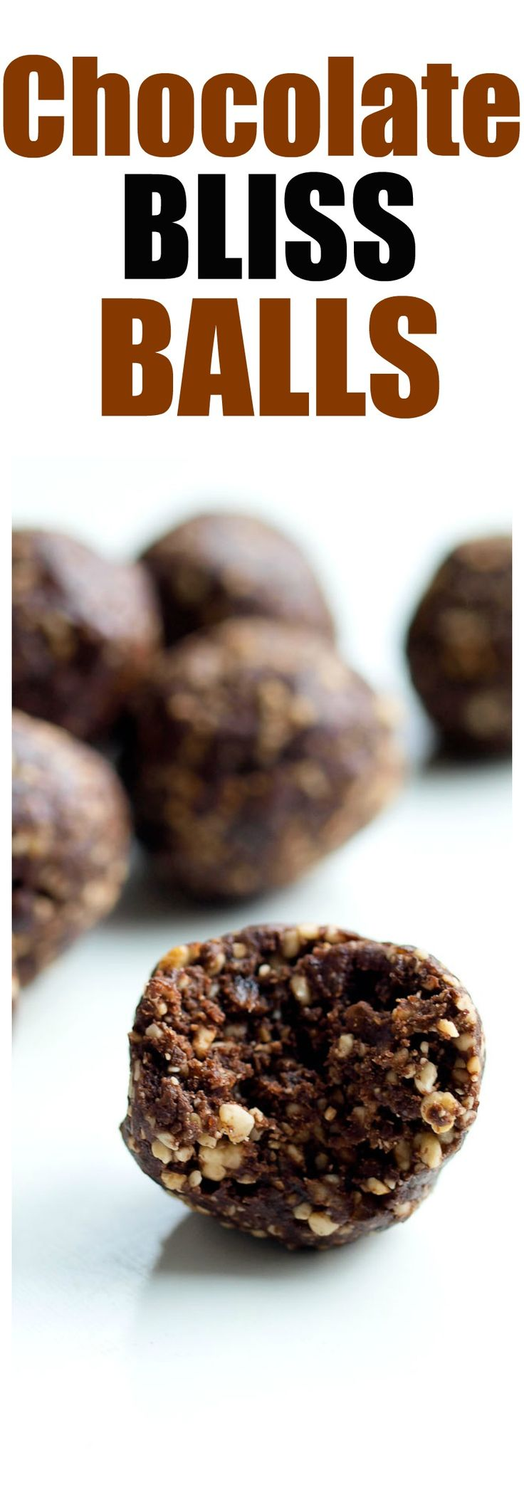 Chocolate Bliss Balls recipe. healthy snack energy ball