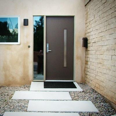 """The """"Nokona"""" from Crestview Doors #modern #exterior #home #door"""