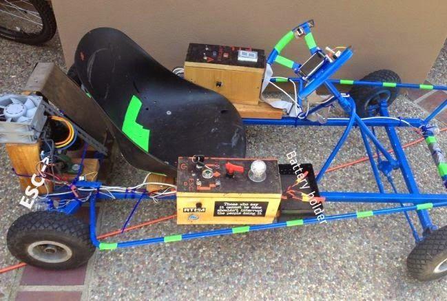 Tecnoneo: Arduino Go-kart, coche eléctrico fabricado por un chico de 15 años