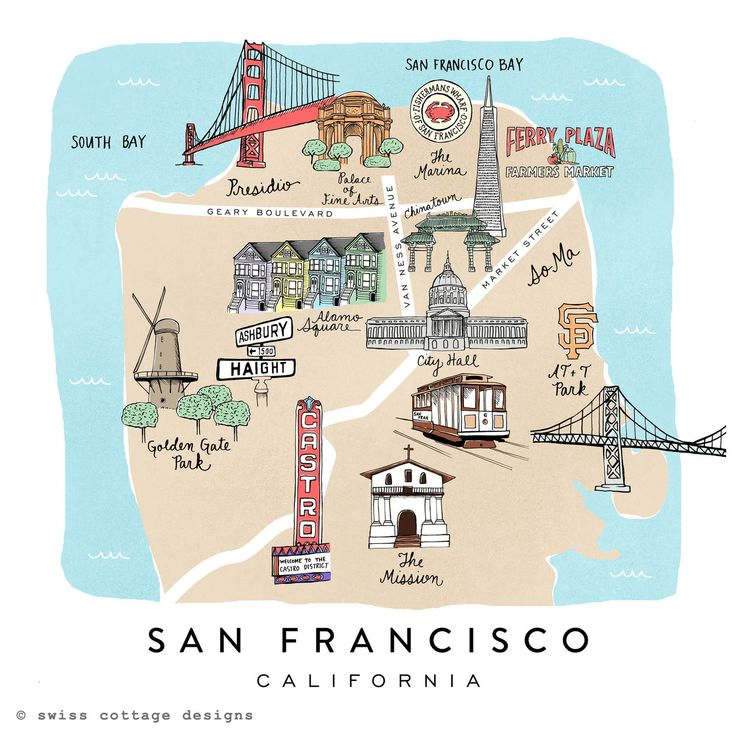 Map inspiration for stops for guests on the way to weekend wedding