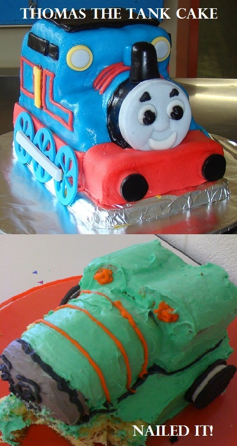 Thomas the Tank Cake..... My good friend Charlene Nailed ...