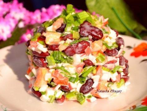 Фото к рецепту: Салат из фасоли остренький