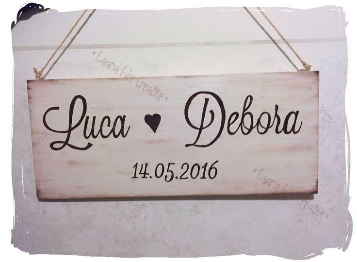 Cartelli in legno per matrimonio personalizzabili