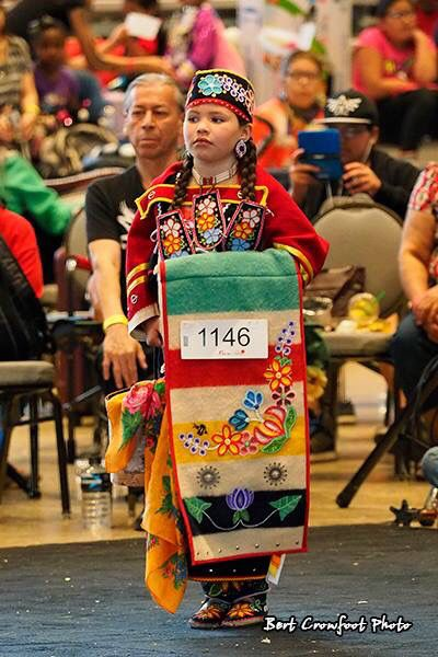 My daughter debuting her Woodland Ojibwe traditional outfit. Winnipeg Canada