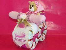 "Windeltorte - Windelmotorrad ""Prinzessin"" in rosa"