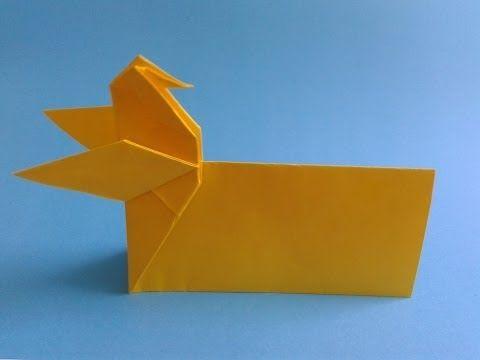 How to make a origami card как сделать открытку оригами - YouTube
