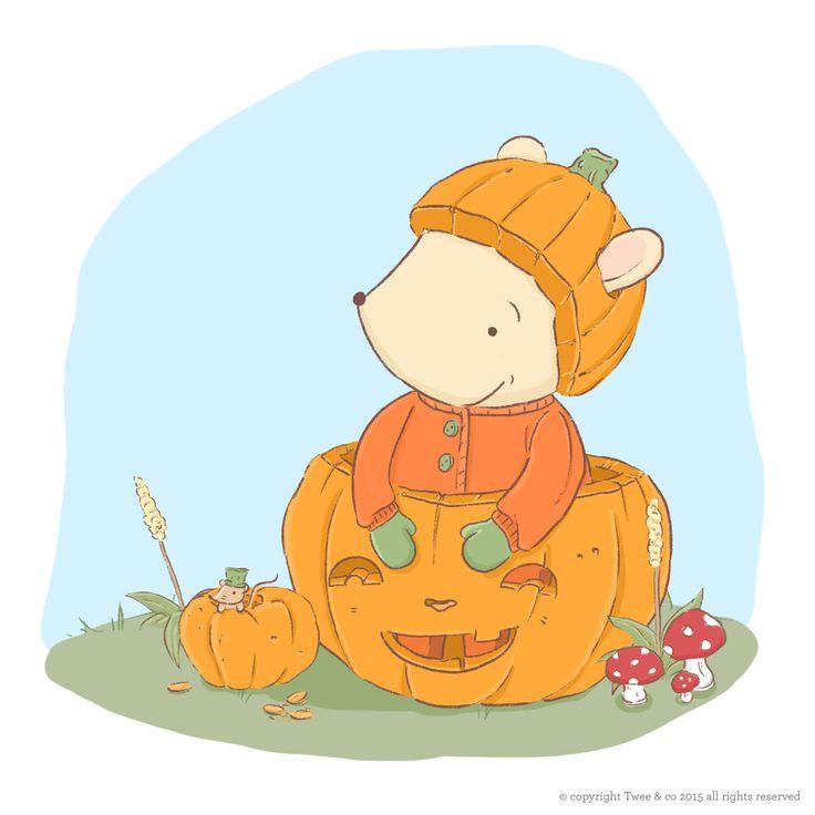 Happy Halloween - Twee & co Illustration by Chelsa Sinclair