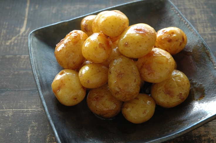 simmered baby potatoes