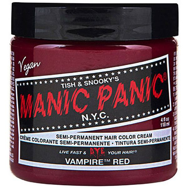 Manic Panic Vampire Red hair dye, temporary red hair dye, Manic Panic... ($16) ❤ liked on Polyvore