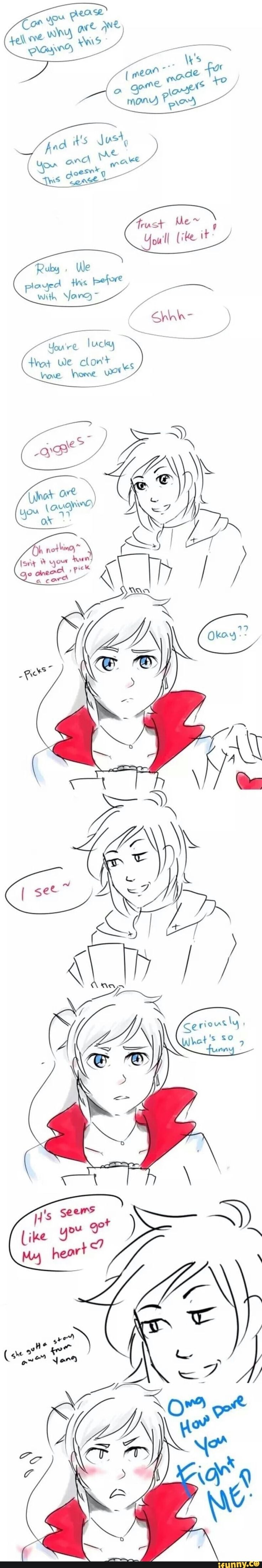 Very funny :) Rwby, White Rose Ruby Rose x Weiss Schnee