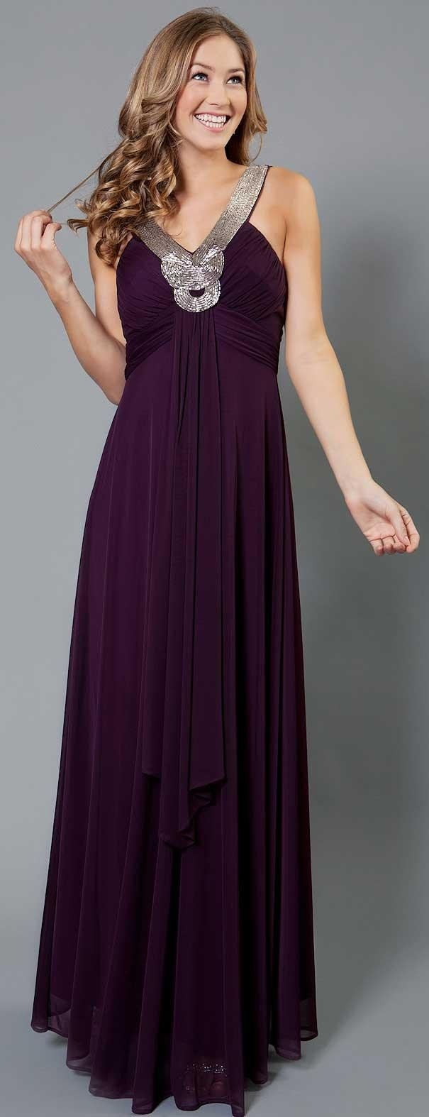Long Formal Dress With Embellished Neckline  ღ♥Please feel free to repin ♥ღ www.fashionandclothingblog.com