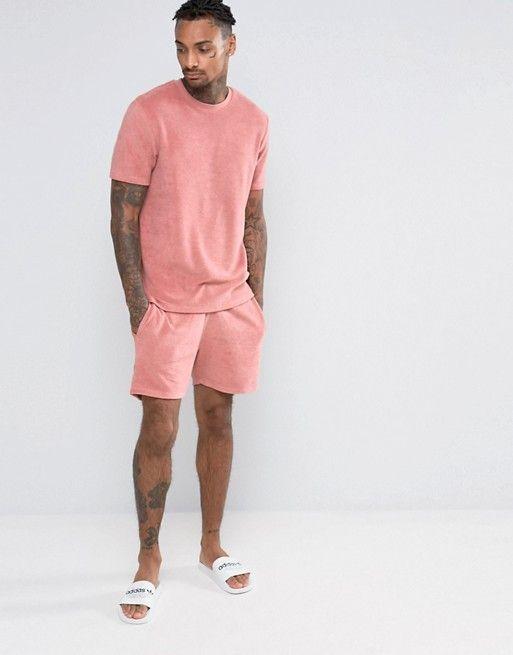 ASOS   Pantalones cortos para correr de tejido de toalla de ASOS Loungewear